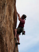 Rock Climbing Photo: Holding the crux stopper with your teeth is the ke...