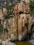 Rock Climbing Photo: A shot of the main face from the hilside. (Stolen ...