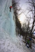 Rock Climbing Photo: Kate Muehling and Steve Tucker on Main Route. 7 Fe...