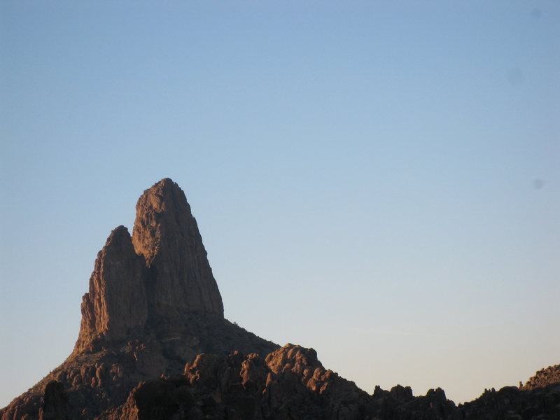 Rock Climbing Photo: Weaver's needle view form top of 'Stroke it Gently...