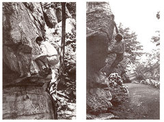 Rock Climbing Photo: Here's Gill repeating Larsen's Problem (left pictu...
