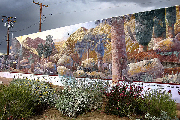 Rock Climbing Photo: Wildlife Mural. Photo by Blitzo.