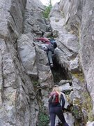 Rock Climbing Photo: Gunsight scrambling
