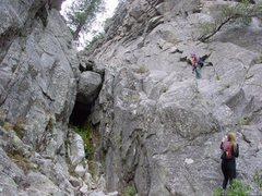 Rock Climbing Photo: Fixed line