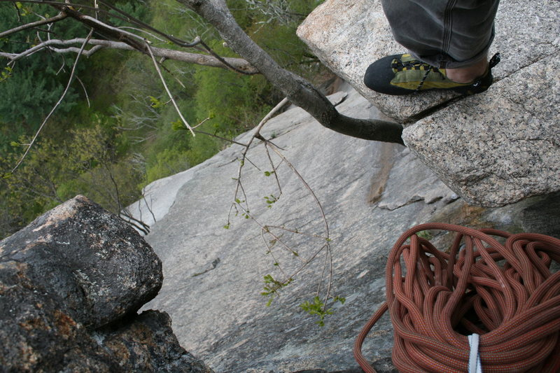 Rock Climbing Photo: Looking down from belay 3