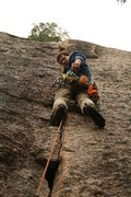 Rock Climbing Photo: Finishing on Pine Tree Eliminate