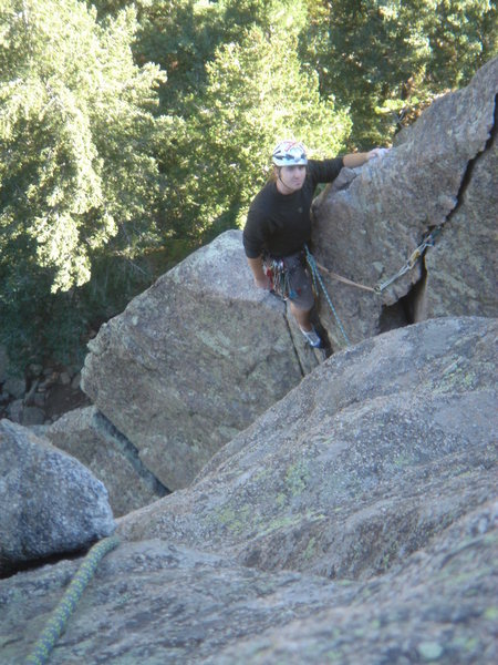 Rock Climbing Photo: Doug at the first Belay