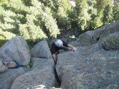 Rock Climbing Photo: Doug coming up pitch 2
