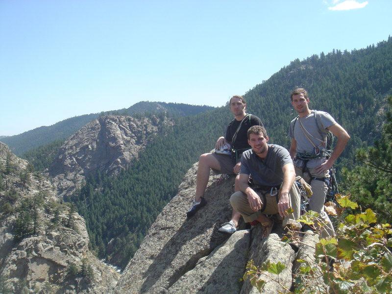 At the top of Cob Rock