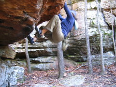 Rock Climbing Photo: Bouldering at Fountain Red in Arkansas