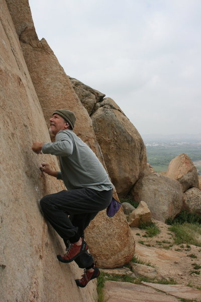 Rock Climbing Photo: Some fun crimping on this face.