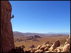 Rock Climbing Photo: Tauru Chaw raps Hidden Dome on a fine fall afterno...