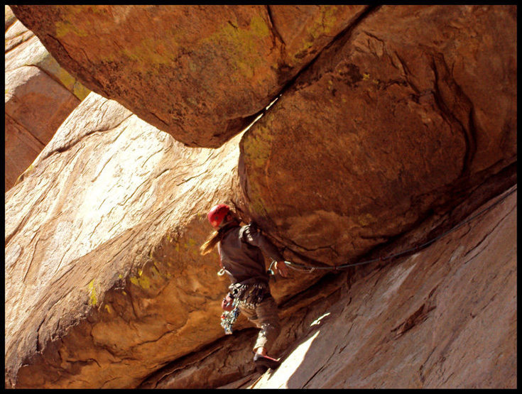 Rock Climbing Photo: Coatimundi Whiteout at Granite Mtn, AZ.