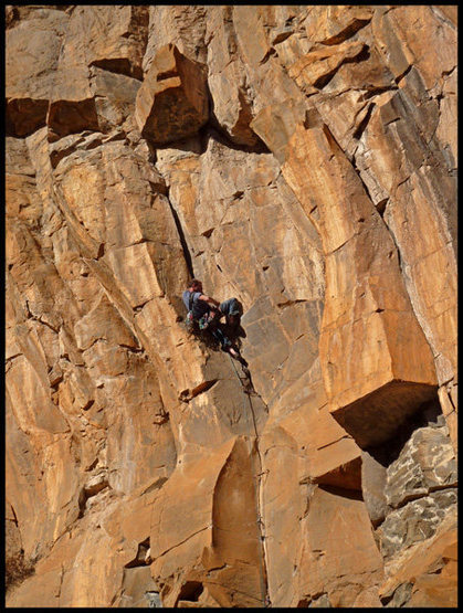 Rock Climbing Photo: D. Bloom on Death & Taxes at The Waterfall.
