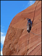 Rock Climbing Photo: Just another sweet Sedona splitter.  Photo by D. B...
