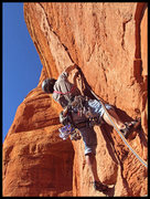 Rock Climbing Photo: Cody Lane starts up the awesome overhanging splitt...