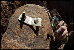 """Rock Climbing Photo: Clipping one of the many """"bad bolts"""" on ..."""