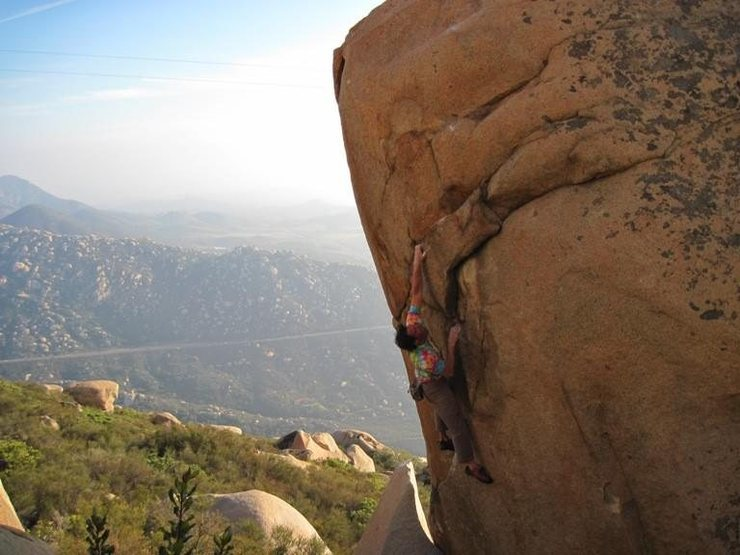 Rock Climbing Photo: Johnny W. lookin' smooth on Pit Bull, 5.10d - Mt. ...