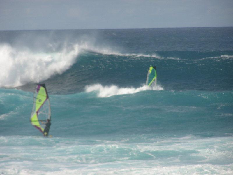 wave sailing the left at Mammas Fish House,  North Shore, Maui