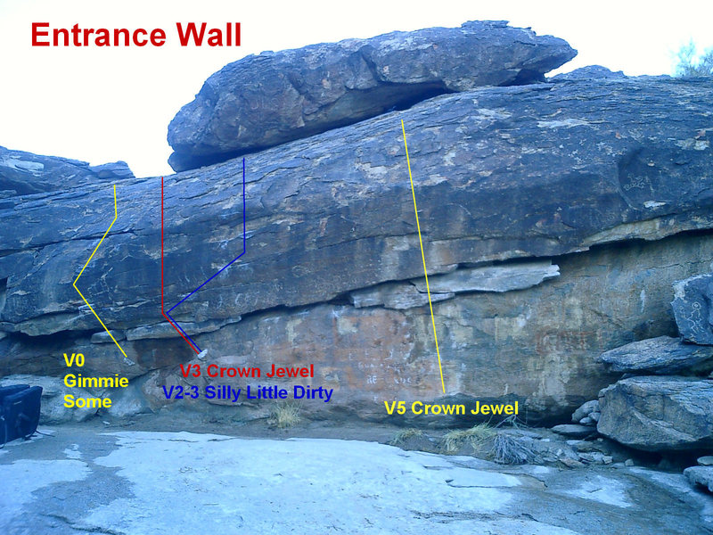 Rock Climbing Photo: Entrance Wall