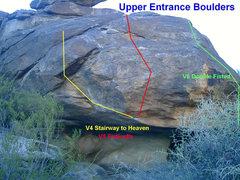 Rock Climbing Photo: Upper Entrance Boulders