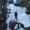 a bit melted but still super fun... we climbed the groove up the left side...