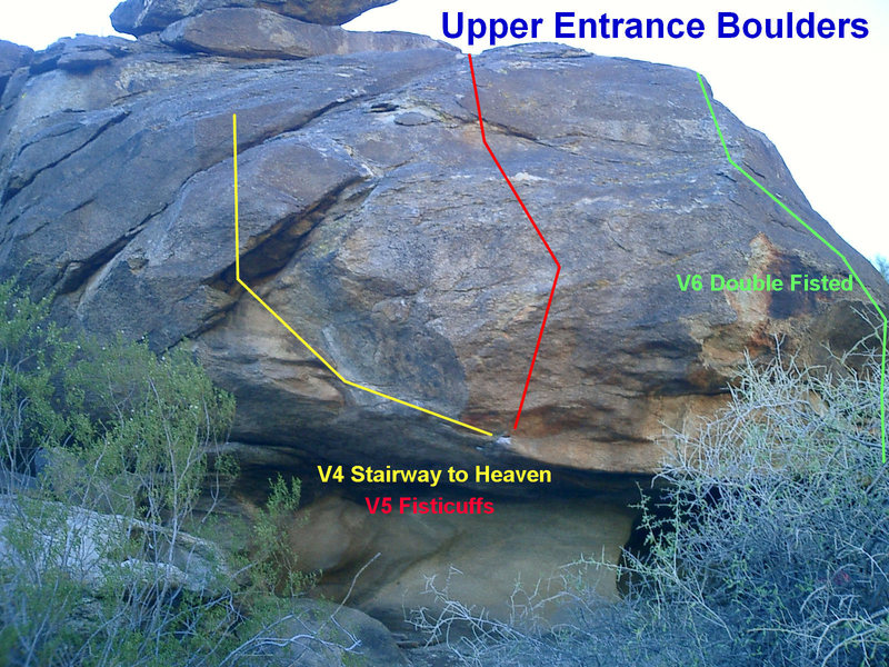 Rock Climbing Photo: Upper Entrance Boulders