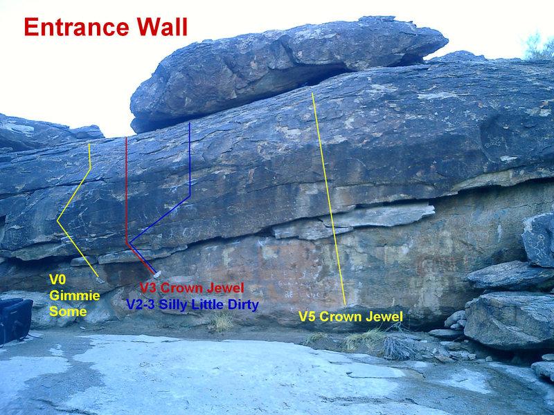Rock Climbing Photo: Entrance Wall