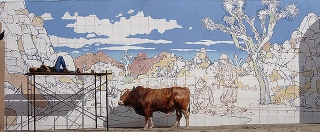 Hidden Valley Cattle Mural.<br> Photo by Blitzo.