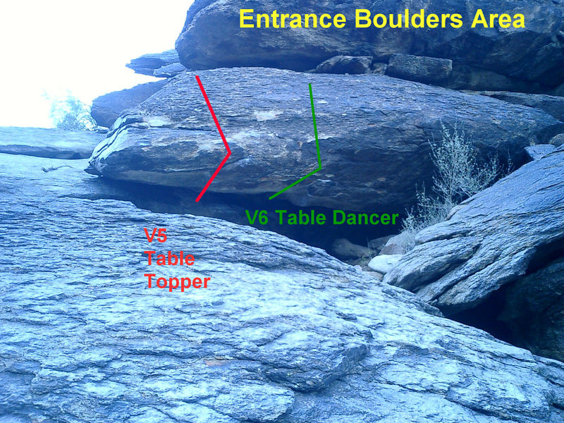 Rock Climbing Photo: Entrance Boulders