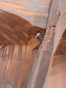 Rock Climbing Photo: Lizzy nearing the crux of the Layaway Plan. Photo ...