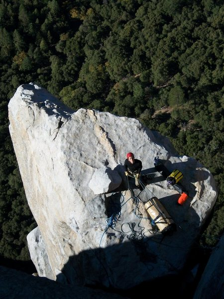 Nothing beats belaying on El Cap Spire.