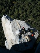 Rock Climbing Photo: Nothing beats belaying on El Cap Spire.