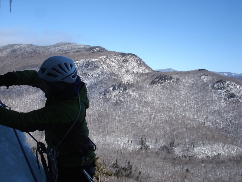 Rock Climbing Photo: View from the intermediate belay stance.