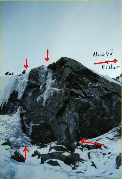 Rock Climbing Photo: Picture of random mixed routes from November, 2004...