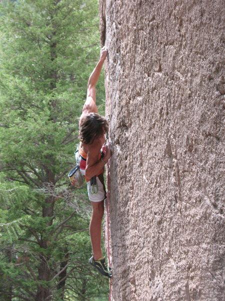 Tobin, 12a at a local crag