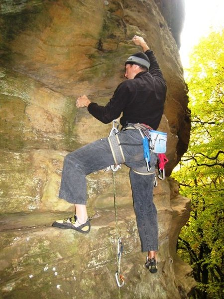 Rock Climbing Photo: Matt gettin' some J.F. on 'im...
