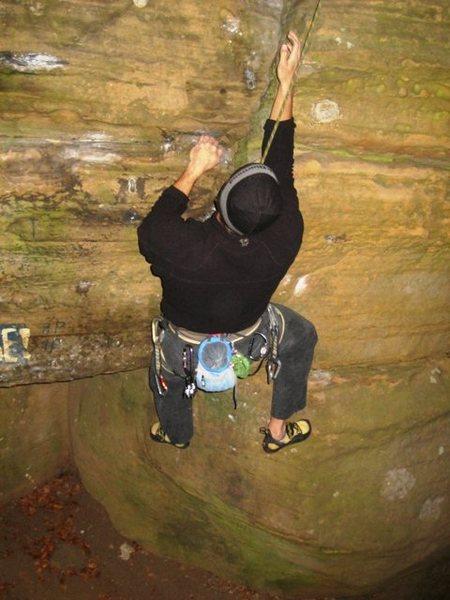 Rock Climbing Photo: Matt is a conquistador of the useless...