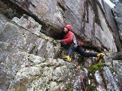 Rock Climbing Photo: John all mixed up at Trollville...