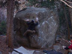 Rock Climbing Photo: Tim F. working the line.