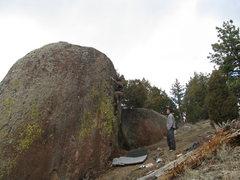 Rock Climbing Photo: Tyson H. finishing up.