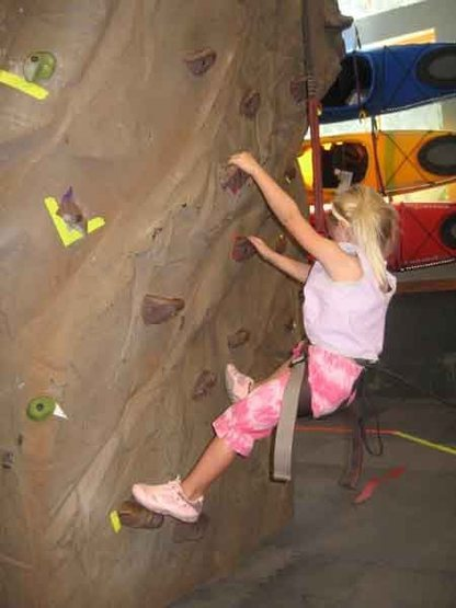 Rock Climbing Photo: first climb clipped in, @ 4 years old.
