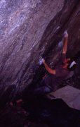 Rock Climbing Photo: A grainy old shot of one of the boulder problems i...