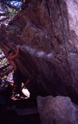 Rock Climbing Photo: Me demonstrating poor footwork on a moderate trave...