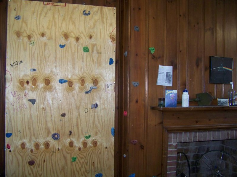 Rock Climbing Photo: the wall in my dorm room