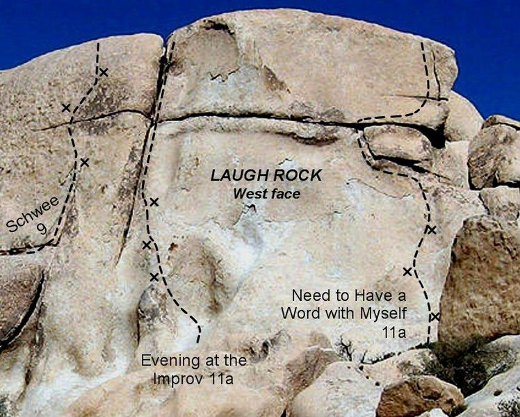 Laugh Rock, center section of west face.