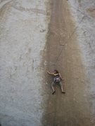 Rock Climbing Photo: Hillary on P1 of solid gold.