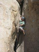 Rock Climbing Photo: Roman having fun with the start of the flake - The...