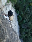 "Rock Climbing Photo: uber scary ""4th class"" traverse to the s..."