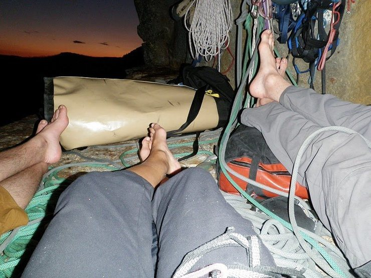 Plush bivy 20 ft from the top.  Well worth an extra night.